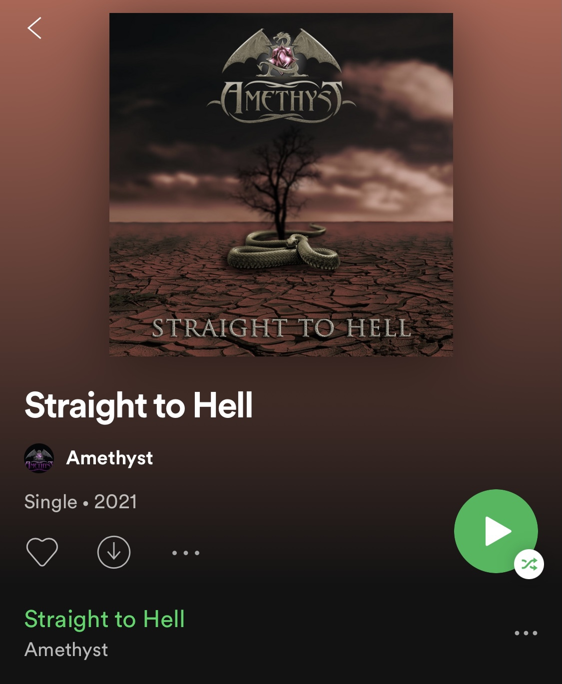 Straight to hell now available in Spotify